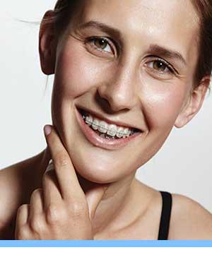 Damon Braces interior photo young woman braces San Marcos Orthodontics San Marcos CA